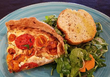 Tomato & Goat Cheese Pie