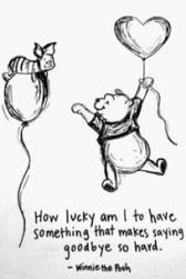 Winnie the Pooh - saying goodbye