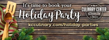 It's time to book your holiday event @ The Culinary Center of Kansas City
