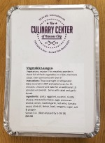 Vegetable Lasagne label
